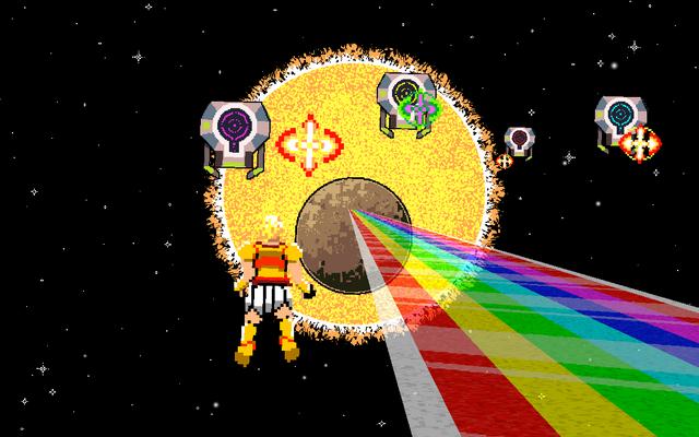 """Screenshot of """"Sun God Star Bridge"""""""