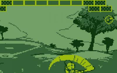 "Screenshot of ""Aliens Go Home Run!"""