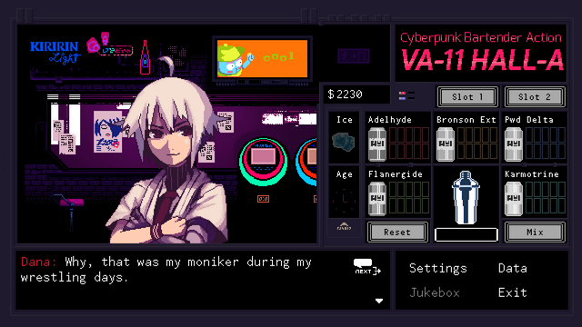 "Screenshot of ""VA-11 Hall-A"""