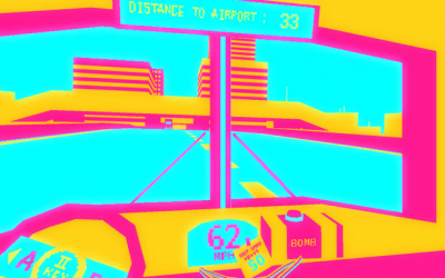 """Screenshot of """"Famous Bus Movie Game"""""""