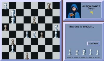 "Screenshot of ""Moveless Chess"""