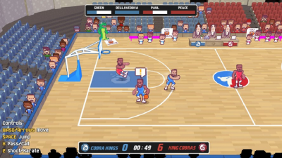 "Screenshot of ""Karate Basketball"""