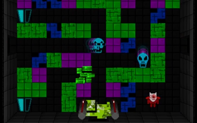 "Screenshot of ""Tomb of the Glitch King"""