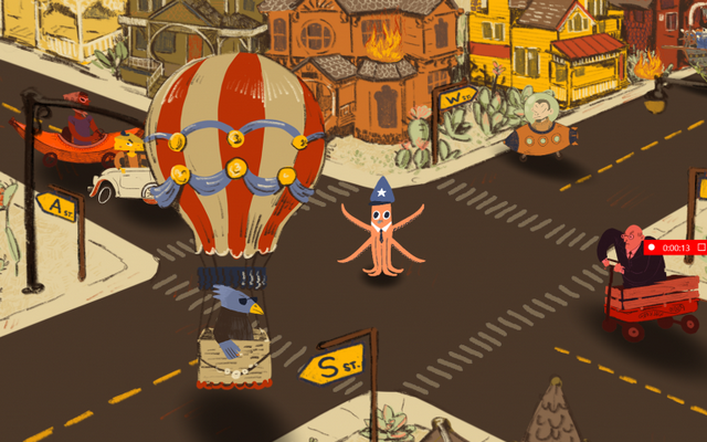 "Screenshot of ""CARamari: Tentacle Four-Way"""