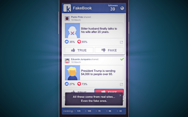 "Screenshot of ""FakeBook"""