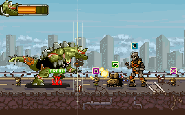 "Screenshot of ""Super Kaiju Dunk City"""