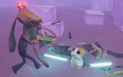 "Screenshot of ""Attack of the Jar Jar Clones"""