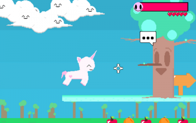 "Screenshot of ""Cutie Unicorn"""