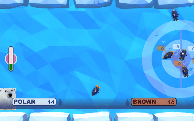 "Screenshot of ""Polar Olympics. Curling"""