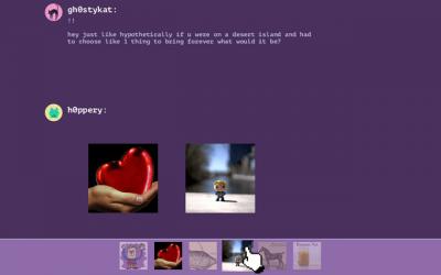 "Screenshot of ""reacti0nary"""