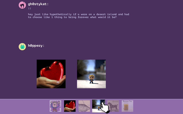 "Screenshot of ""reacti0nary"""