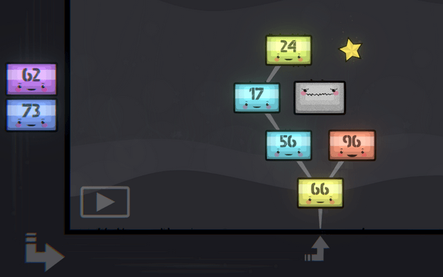"Screenshot of ""Binary Blocks"""