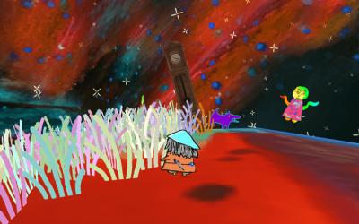 "Screenshot of ""For meget drøm / Too much dreaming"""