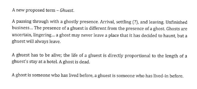 """Blog definition of """"Ghuest"""""""