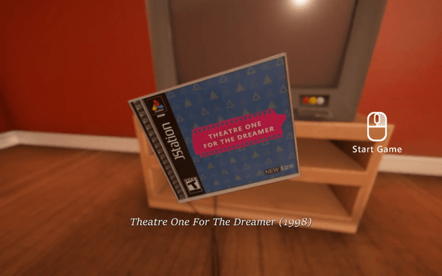 "Screenshot of ""Theatre One For The Dreamer"""