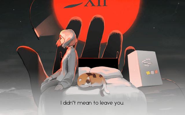 "Screenshot of ""YOU LEFT ME."""