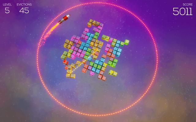"Screenshot of ""Zero-G Nuclear Space Tetris"""