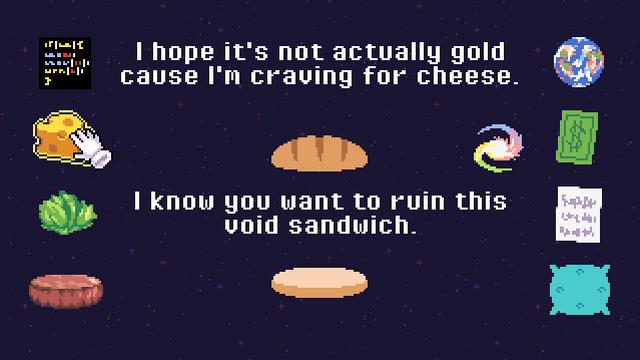 """Screenshot of """"Sandwiching The Void"""""""