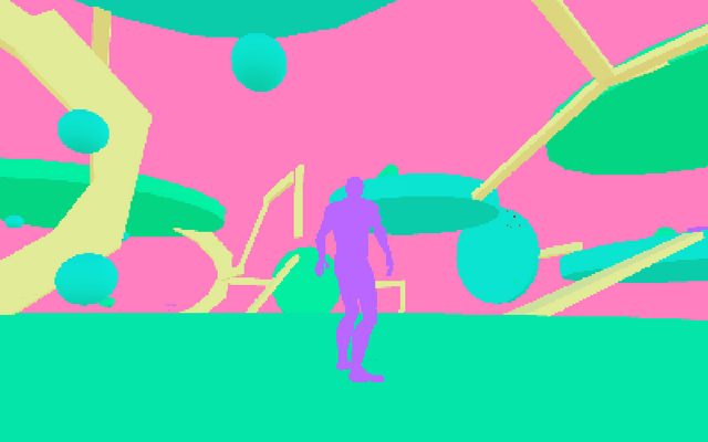 "Screenshot of ""VaporWave Platformer Prototype"""