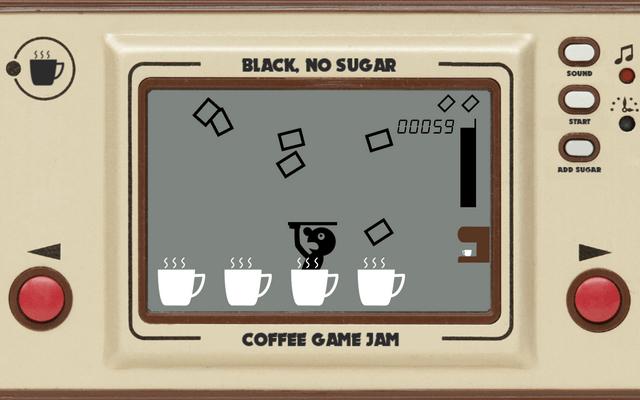 """Screenshot of """"Black, no sugar"""""""