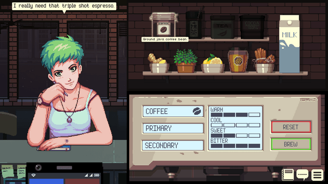 "Screenshot of ""Coffee Talk"""