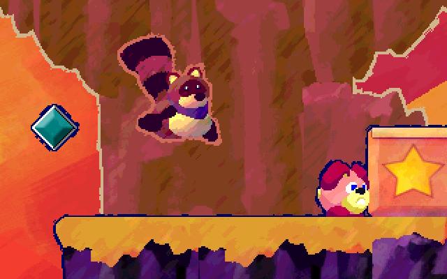 """Screenshot of """"Bounce the Raccoon"""""""