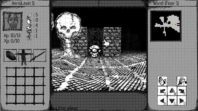 """Screenshot of """"Paper & Ink Dungeon"""""""
