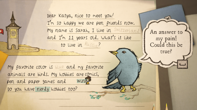 "Screenshot of ""Letters - a written adventure"""