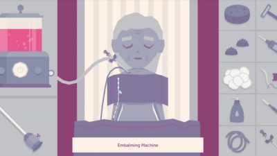 "Screenshot of ""A Mortician's Tale"""