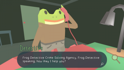 "Screenshot of ""The Haunted Island, a Frog Detective Game"""