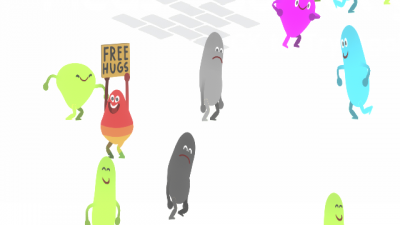 "Screenshot of ""Free Hugs INC."""