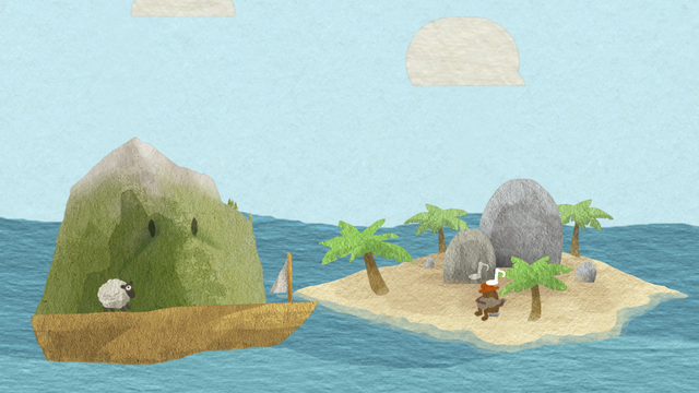 "Screenshot of ""I want to stay on this island"""