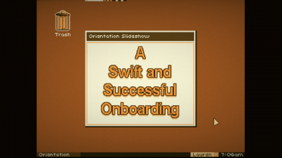 "Screenshot of ""A Swift and Successful Onboarding"""