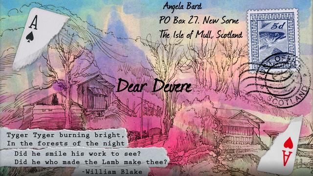 """Screenshot of """"Dear Devere"""""""