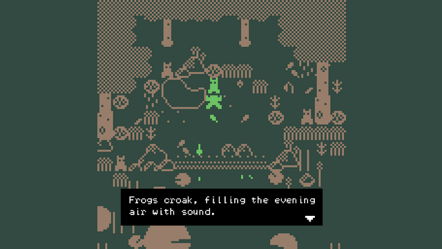 "Screenshot of ""A poem for the frog pond."""