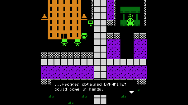 """Screenshot of """"FROGGER FIGHTS THE AUTO LOBBY"""""""