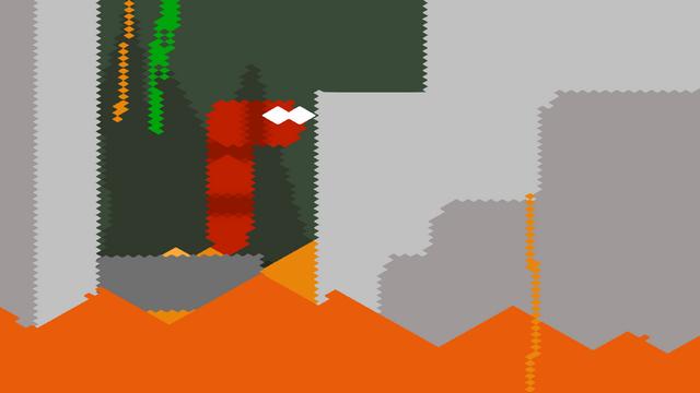 """Screenshot of """"Volcano Snek"""""""