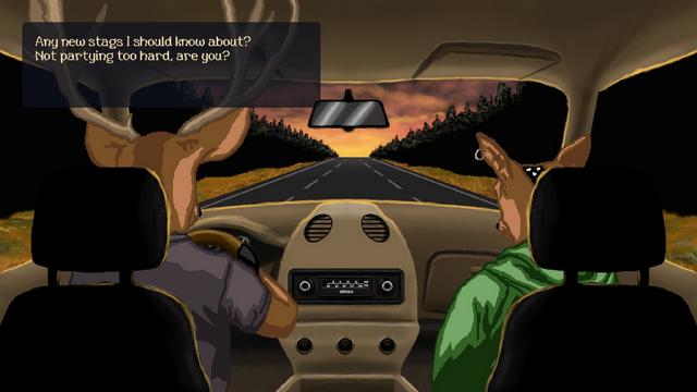 """Screenshot of """"Deer in the Headlights"""""""