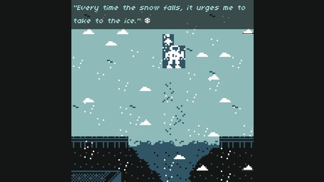 "Screenshot of ""Under A Caustic Snow, I Danced"""