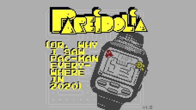 """Screenshot of """"Pareidolia (or, Why I Saw Pac-Man Everywhere In 2020)"""""""