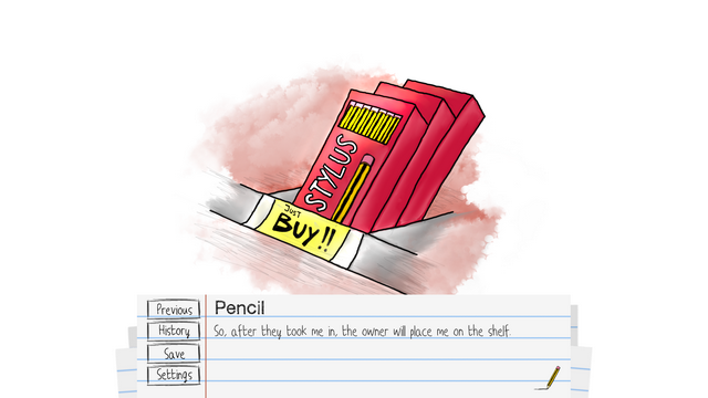 "Screenshot of ""I'm A Pencil"""
