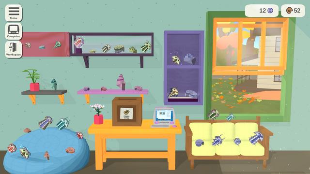 "Screenshot of ""Fossil Corner"""