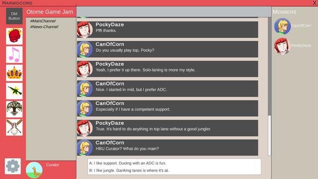"""Screenshot of """"In Game Crush"""""""